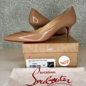 NWT 🔴FIRM Louboutin Pigalle Follies 55 pumps nude